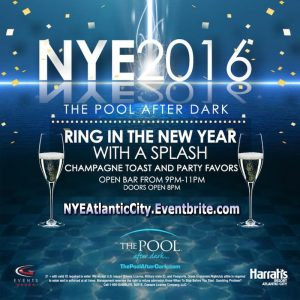 12/31 NEW YEARS EVE at The Pool After Dark! Jessica Who, 2 Hour Open Bar, Party Favors, Champagne! NYE AC Discount Tickets!