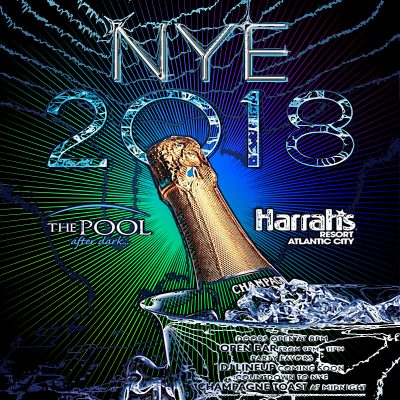 Discount Tickets for New Years Eve 2018 - The Pool After Dark, AC at Harrah's Resort Atlantic City here: ACGuestlist.com