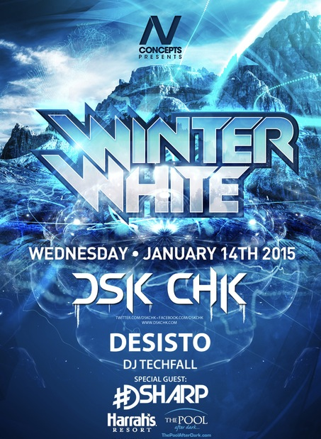 WiNTeR WHitE PARTY! 01/14 DSK CHK | DESISTO | TECHFALL Special Guest: #DSharp #ThePoolAfterDark - Free Admission Guest List