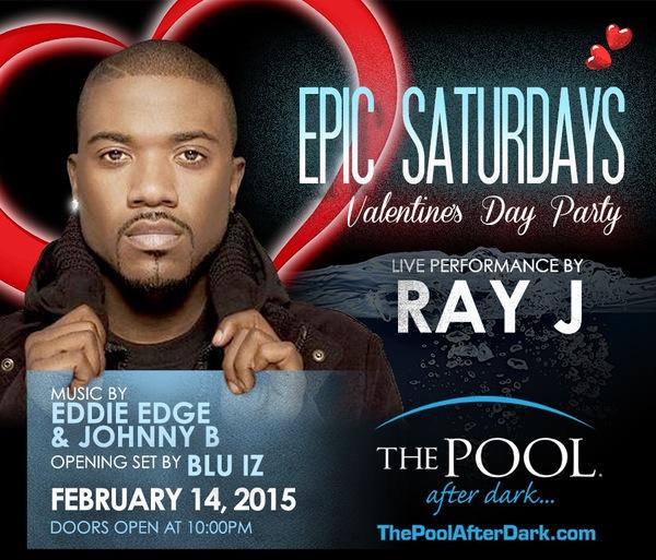 Ray J Valentine's Day Traffic Light Party! 2/14 #PoolAfterDark #AtlanticCity - Discount #Guestlist