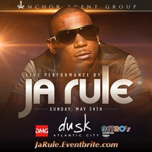 #JaRule ★ Performing LIVE! @ Dusk Nightclub Sunday, May 24th #MDW #MemorialDay for Discount Tickets - ACGuestlist.com
