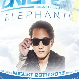 ELEPHANTE LIVE! 8/29 Daylife Beachclub Open 12 - 7PM - Free Admission w ANY CITY!