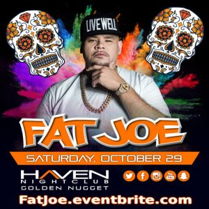 Fat Joe and Scram Jones HAVEN Halloween Party 10/29 Costume Contest: Cash Prizes! Visit: www.AnyCityPromotions.com Early Bird Tickets!